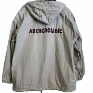 Abercrombie & Fitch Tan hooded Raincoat